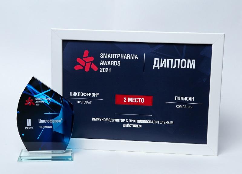Циклоферон занял второе место в национальном конкурсе «Smartpharma Awards 2021»